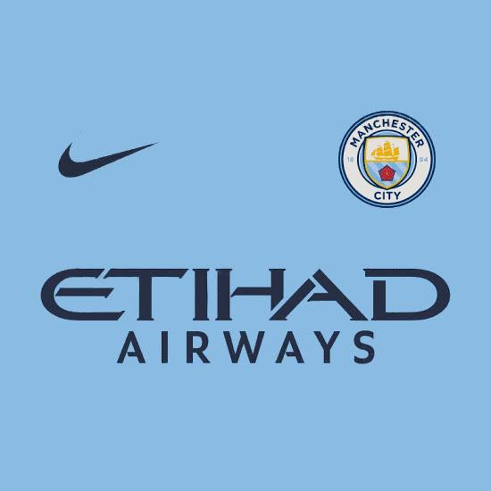 couleurs Manchester City 2019 maillot domicile foot