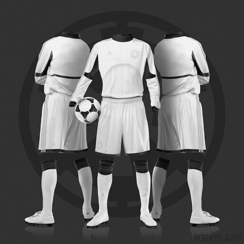 maillot de football star wars stromtroopers