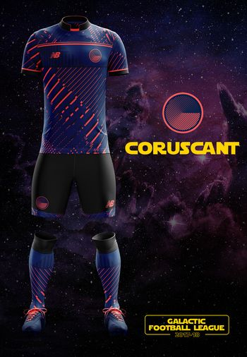 maillot foot Star Wars Coruscant