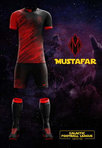 maillot foot Star Wars Mustafar