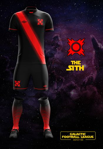 maillot foot Star Wars Sith
