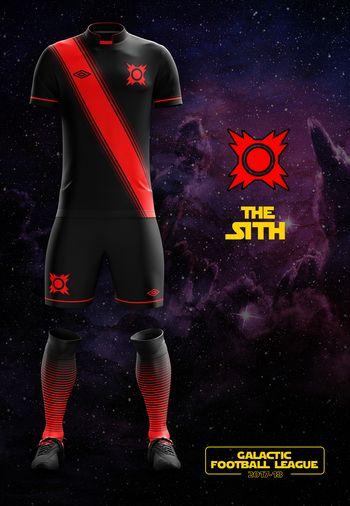 maillot foot Star Wars Sith