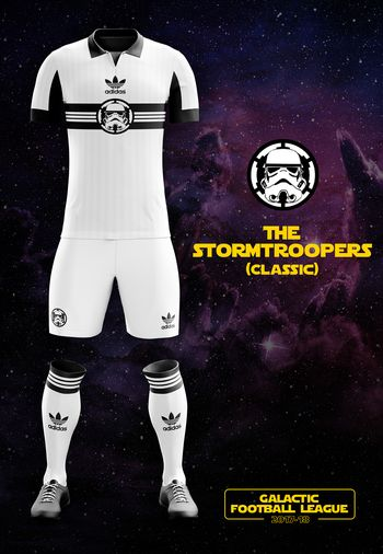 maillot foot Star Wars Stormtroopers classiques
