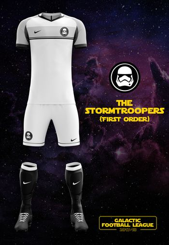 maillot foot Star Wars Stormtroopers