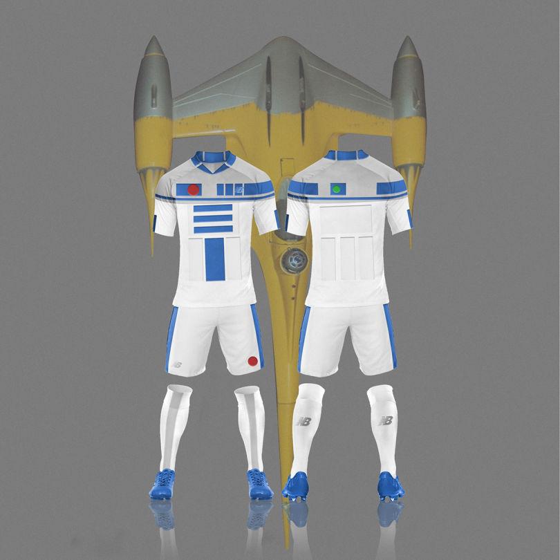maillot foot star wars R2 D2