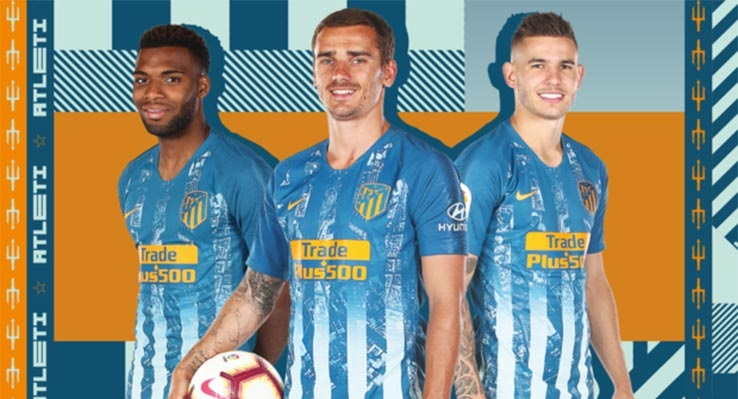Atletico Madrid 2018 2019 3eme maillot Nike bleu