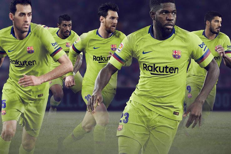 Barcelone 2019 maillot de football exterieur 2018 2019 Nike