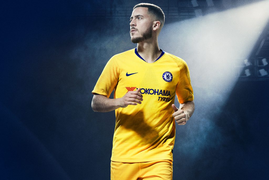 Chelsea 2019 maillot exterieur jaune Hazard