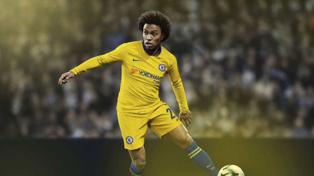 Chelsea 2019 maillot foot exterieur Willian