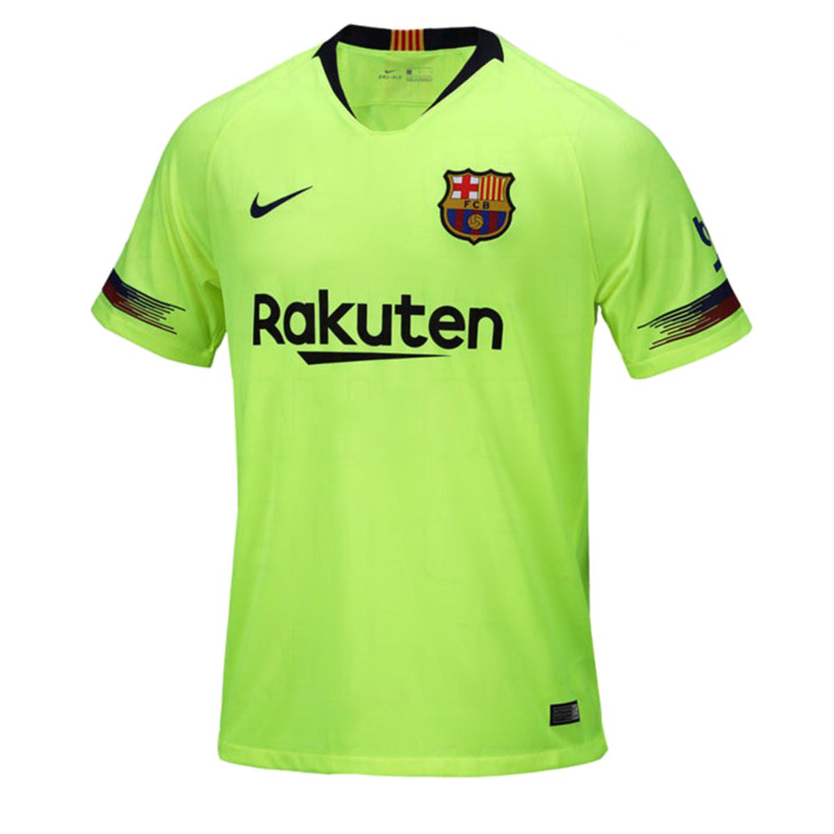 FC Barcelone 2018 2019 maillot de foot exterieur jaune Nike 18 19