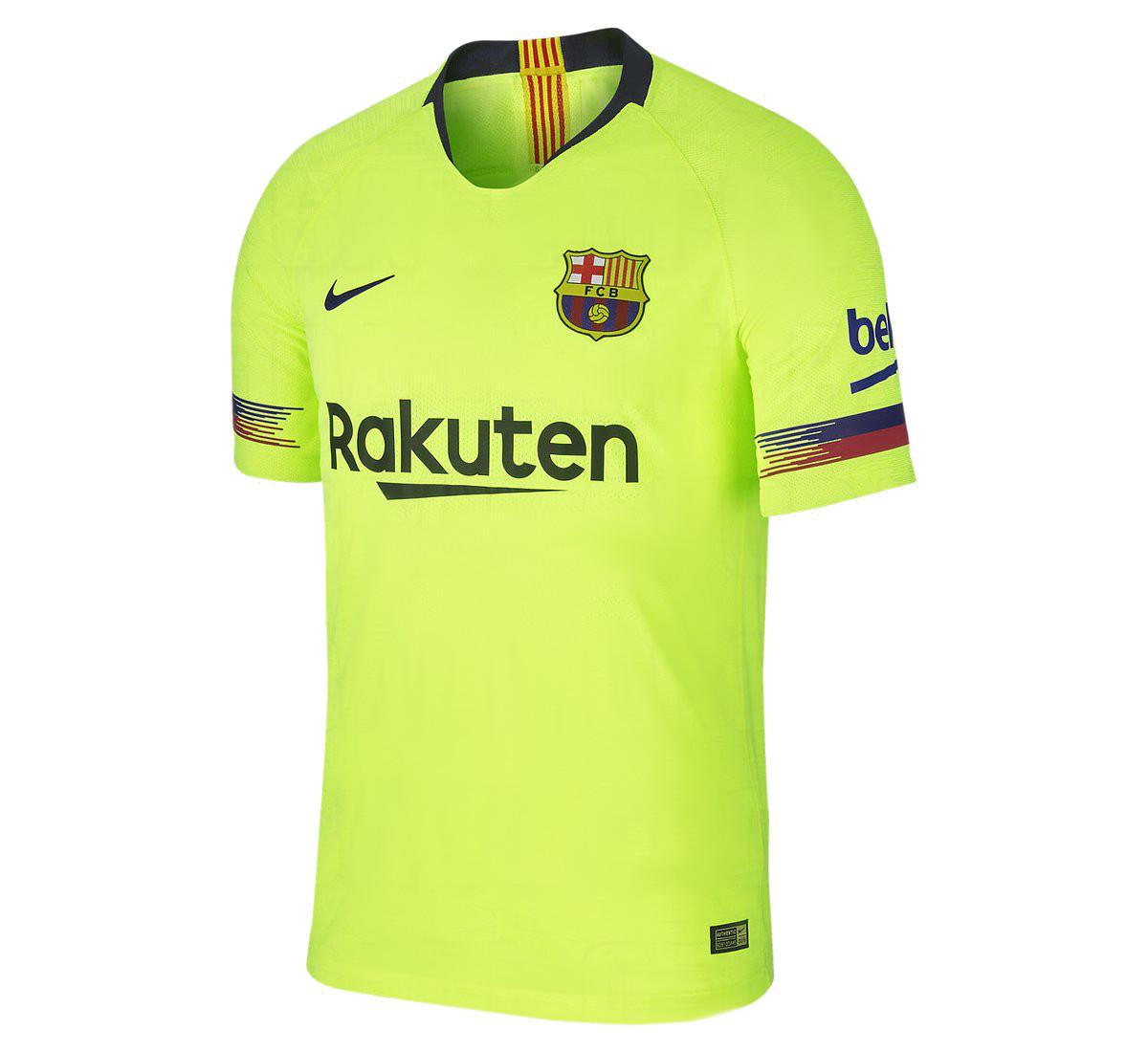 FC Barcelone 2018 2019 maillot de foot exterieur jaune