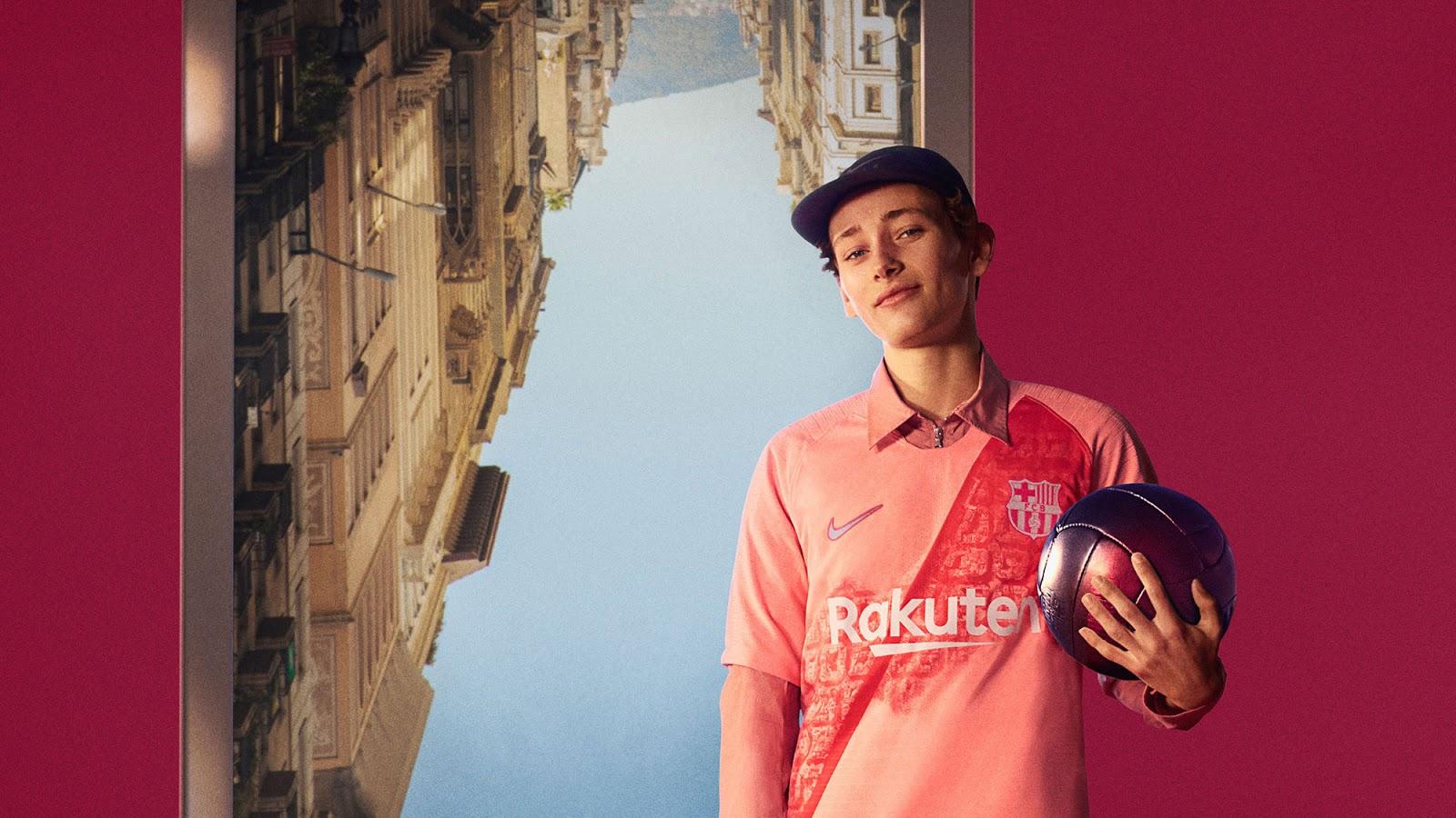 FC Barcelone 2019 nouveau troisieme maillot third 18 19