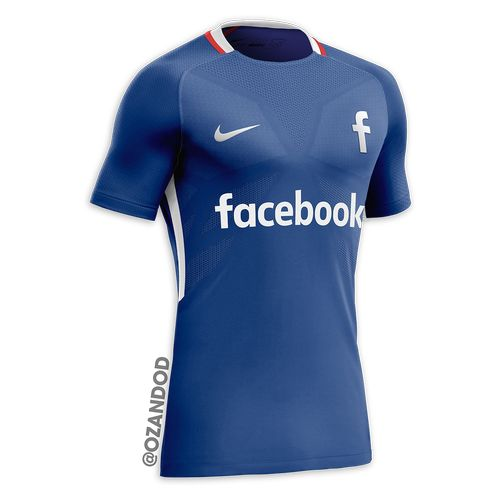 Facebook reseau social maillot de football