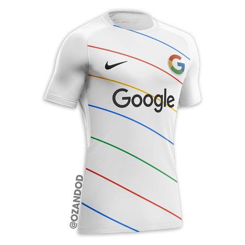 Google reseau social maillot de football