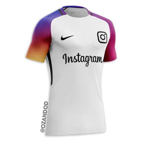 Instagram reseau social maillot de football