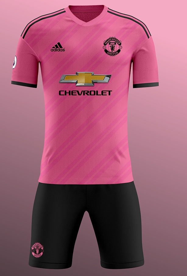 Manchest United 2019 possible maillot foot exterieur rose