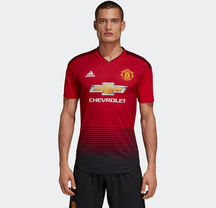 Manchester United 2019 nouveau maillot foot domicile