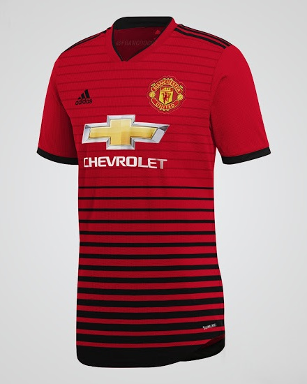 Manchester United 2019 possible maillot domicile