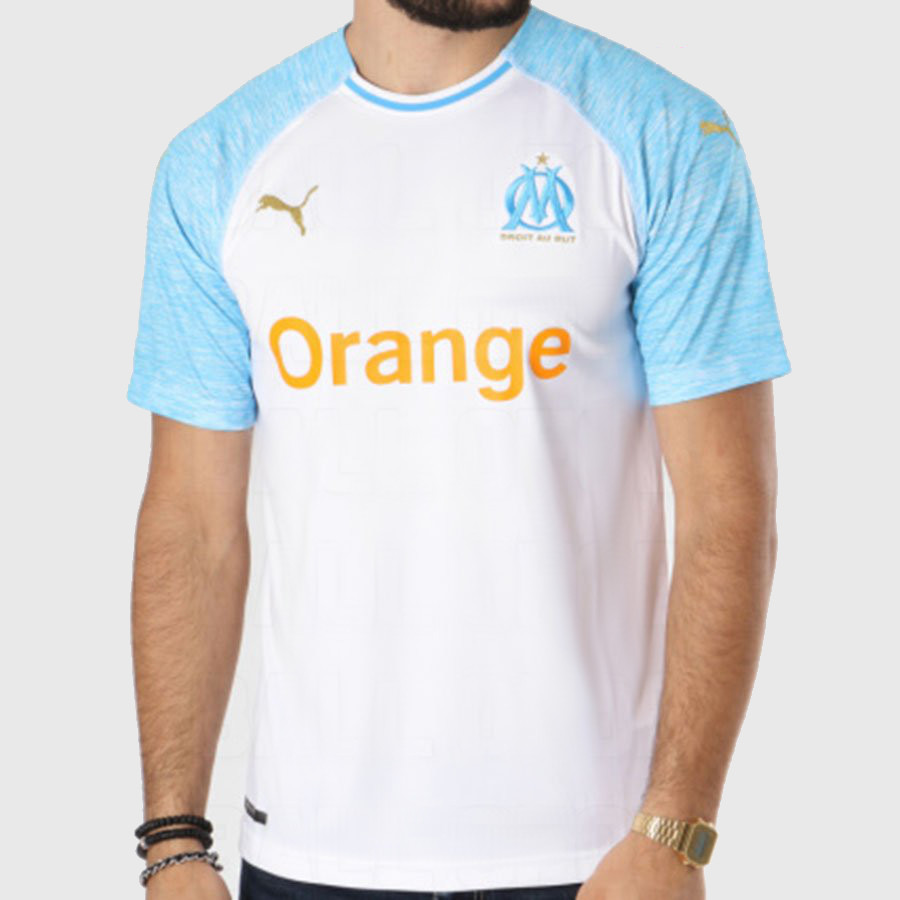 OM 2019 maillot domicile football Puma