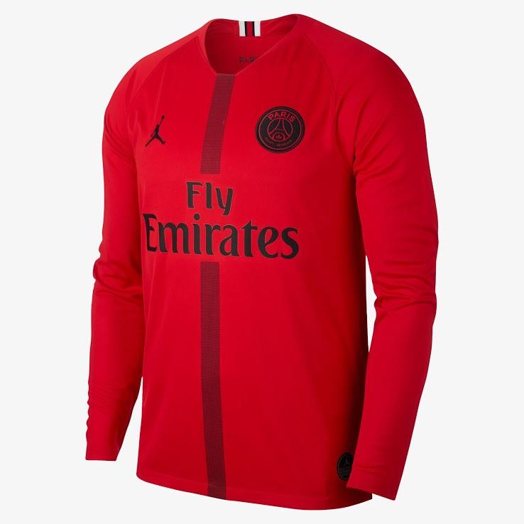 PSG 2019 maillot gardien third rouge Jordan
