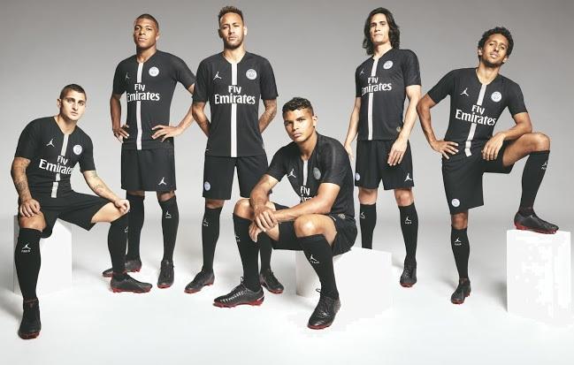 PSG 2019 maillot noir ligue des champions Jordan Nike