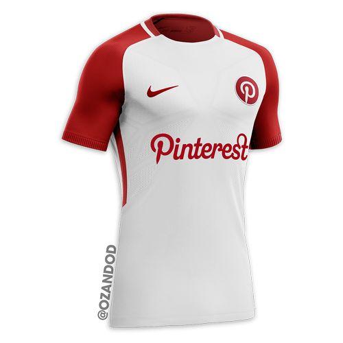 Pinterest reseau social maillot de football