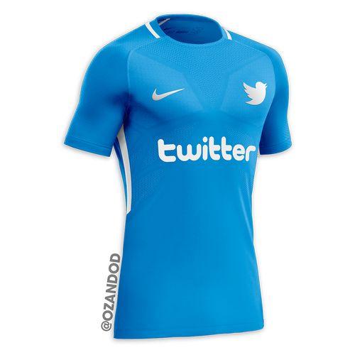 Twitter reseau social maillot de football