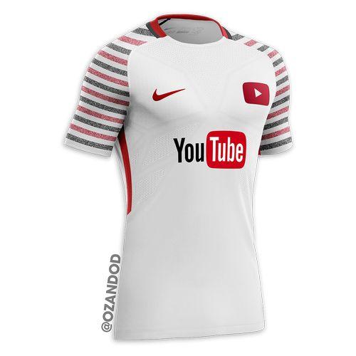 YouTube reseau social maillot de football