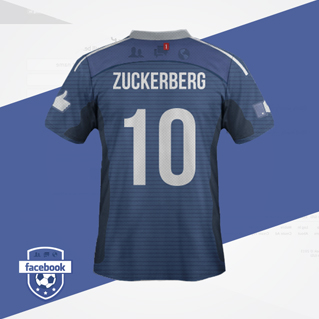 maillot de foot reseaux sociaux Facebook dos