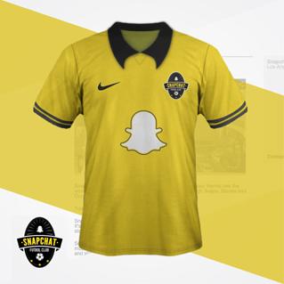 maillot de foot reseaux sociaux Snapchat