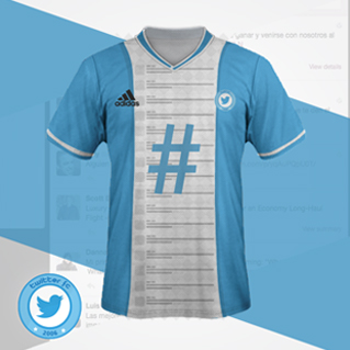 maillot de foot reseaux sociaux Twitter