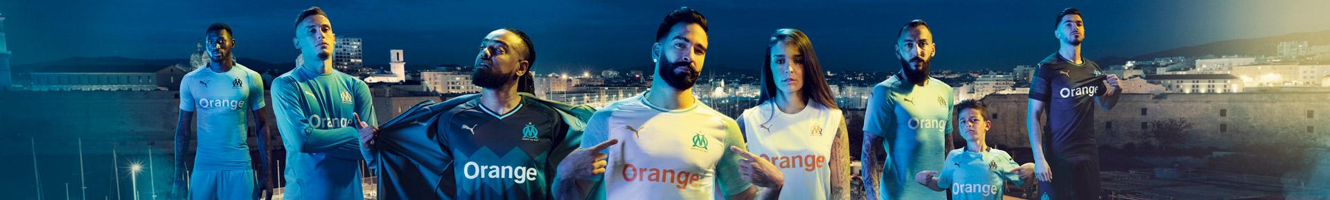 tous les maillots de Marseille 2018 2019