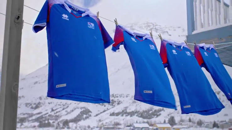 Islande 2018 maillot officiel coupe du monde 2018 Errea