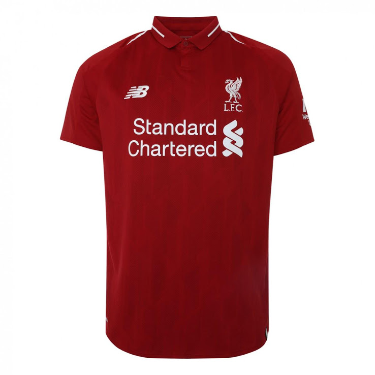 Liverpool 2019 maillot foot domicile 18 19 New Balance