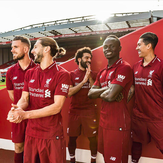 Liverpool 2019 maillot foot domicile 18 19 officiel