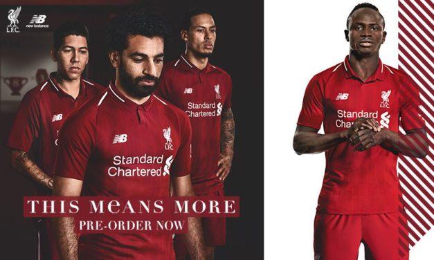 Fuite des nouveaux maillots foot de Liverpool 2018