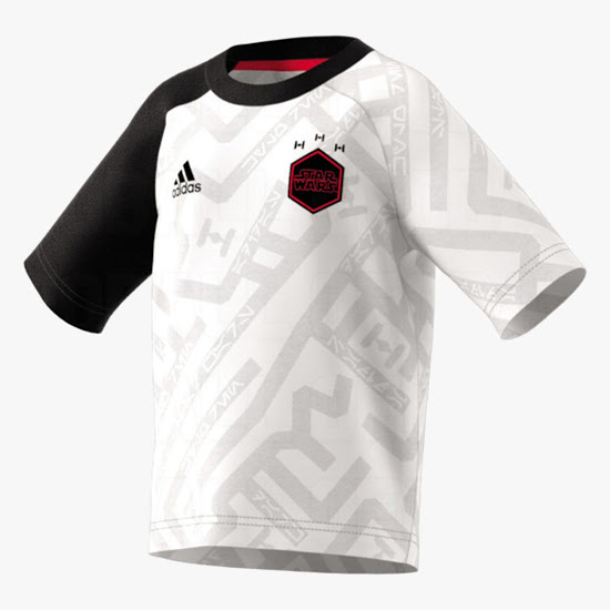 Star Wars maillot de foot Adidas officiel blanc