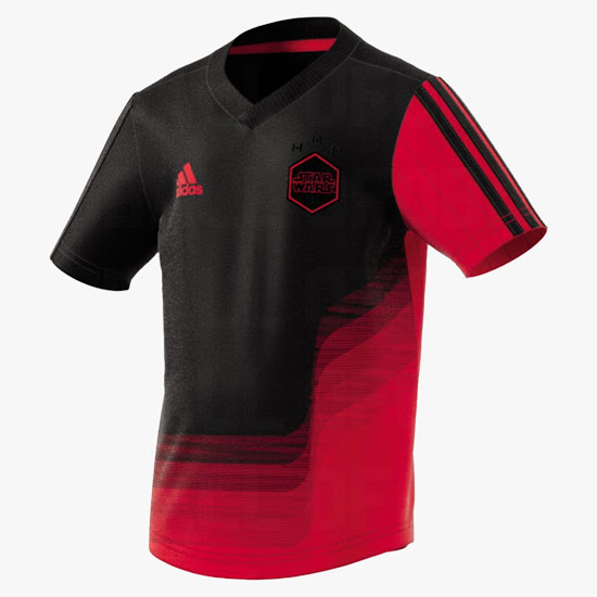 Star Wars maillot de foot Adidas officiel rouge