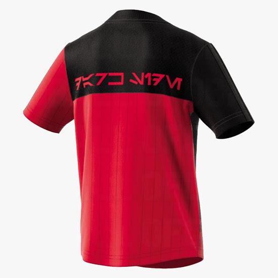 Star Wars maillot de foot Adidas officiel rouge dos