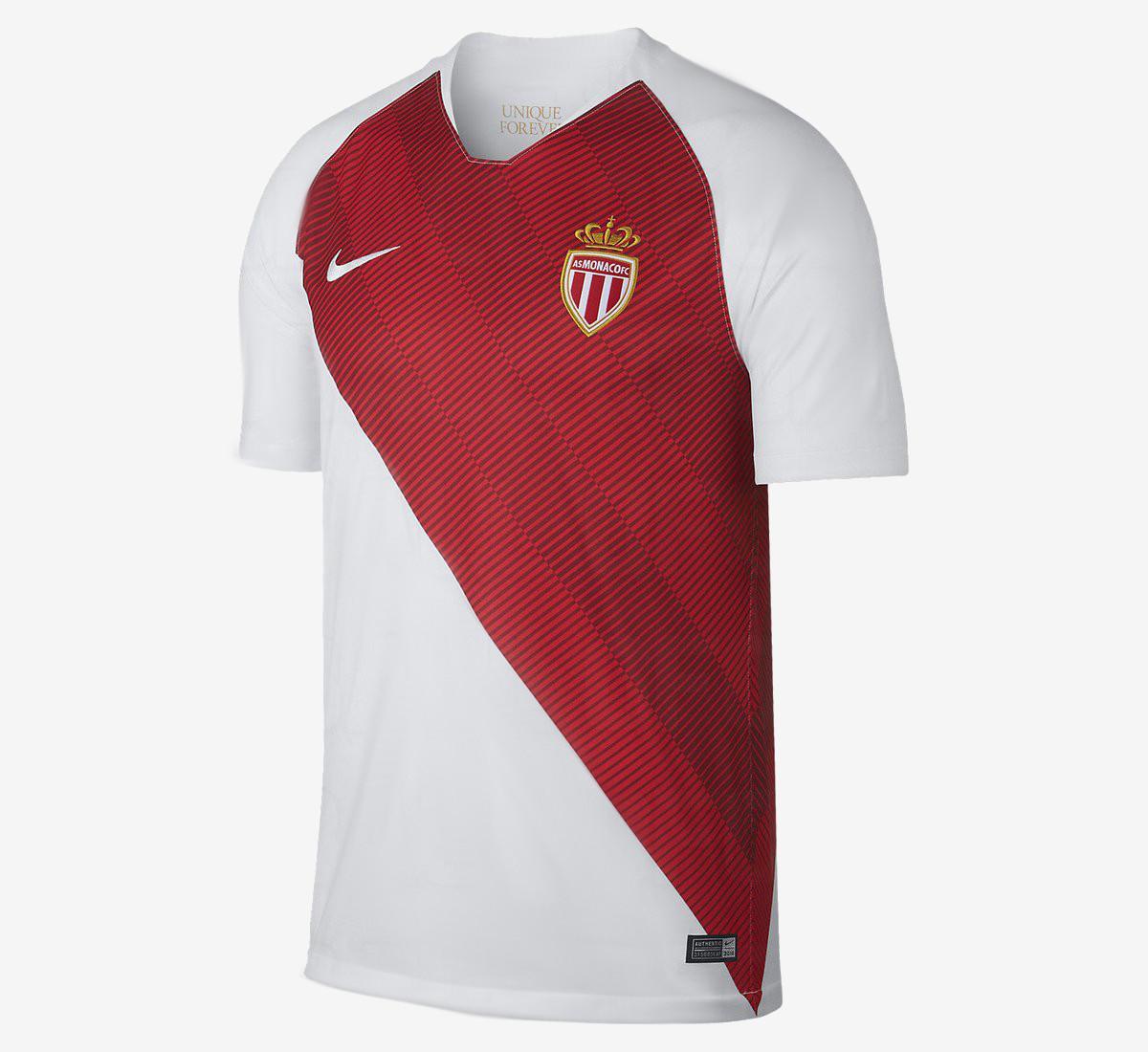 AS Monaco 2019 maillot de football Nike domicile 18 19