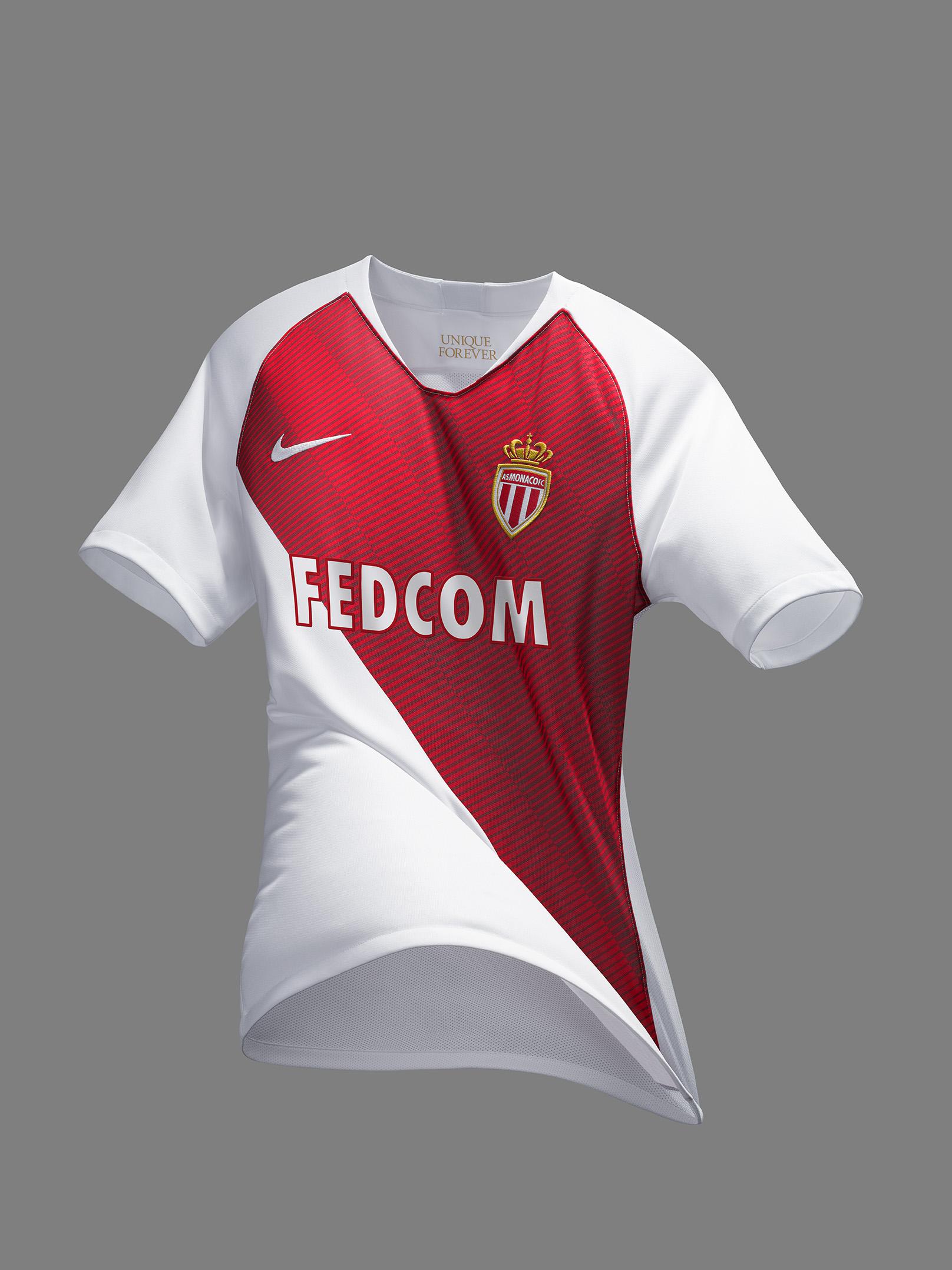 AS Monaco 2019 maillot domicile 2018 2019 Nike