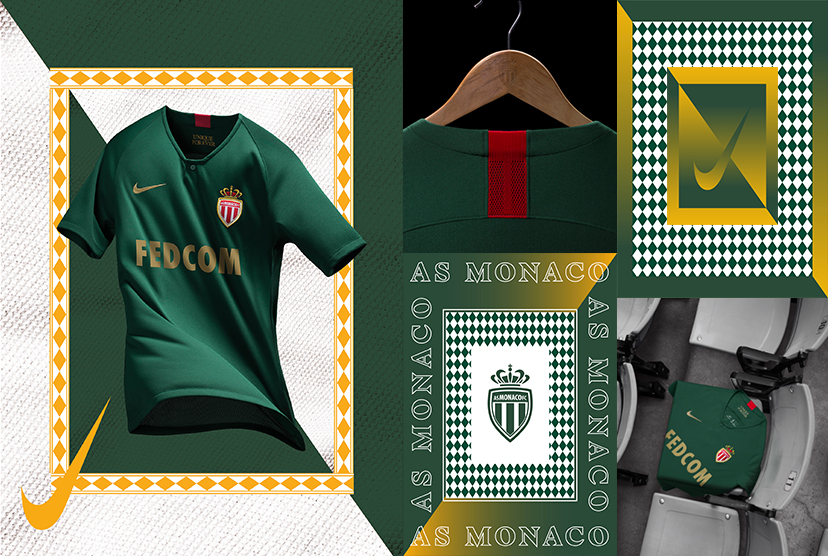 AS Monaco 2019 maillot extérieur officiel