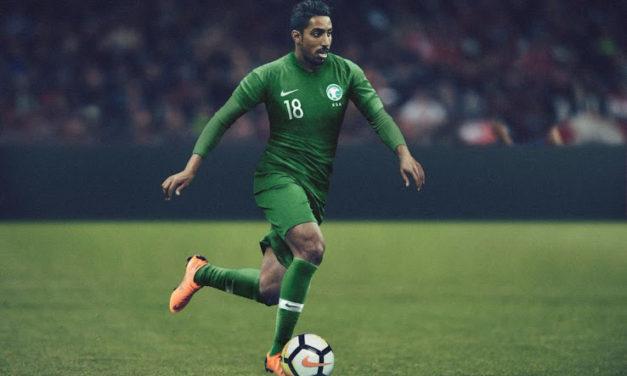 Arabie Saoudite 2018 nouveaux maillots foot coupe du monde 2018