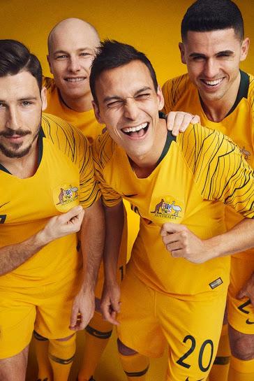 Australie 2018 maillot domicile foot officiel