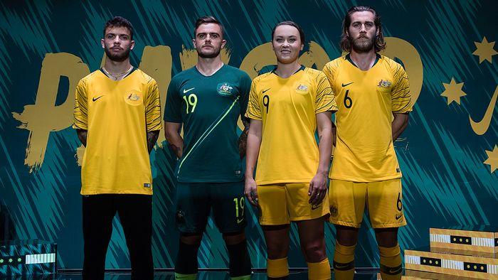 Australie 2018 nouveaux maillots football coupe du monde 2018