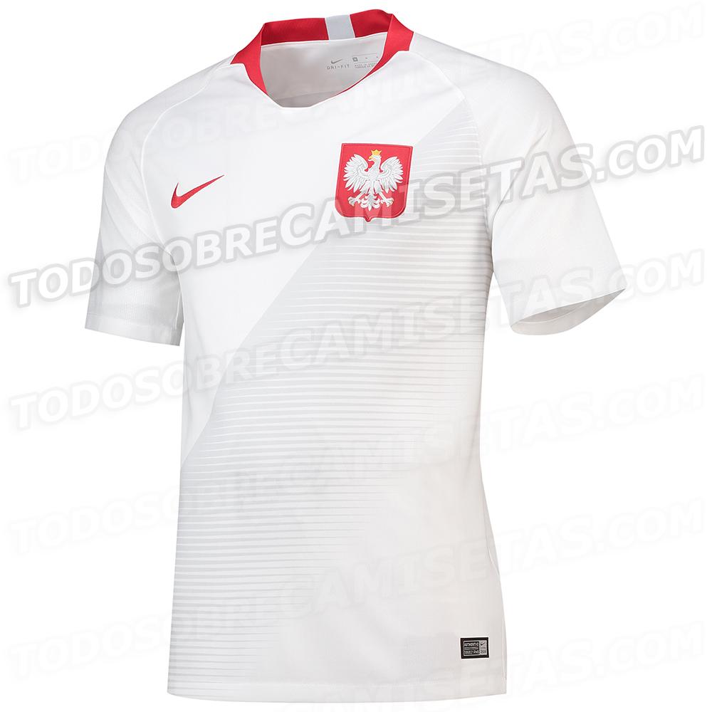 Pologne 2018 maillot de foot domicile CDM 2018