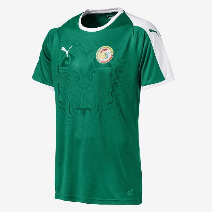 Senegal 2018 maillot exterieur coupe du monde 2018 Puma