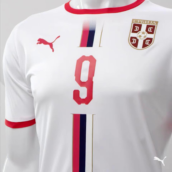 Serbie 2018 maillot exterieur coupe du monde 2018 Puma