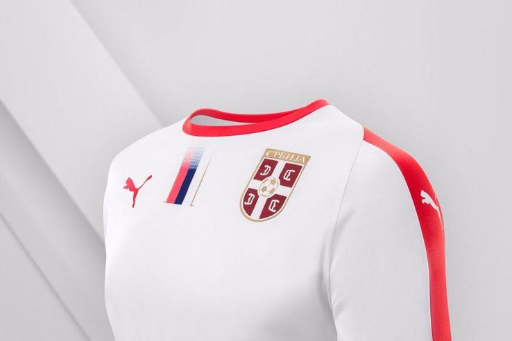 Serbie 2018 maillot exterieur coupe du monde 2018 officiel