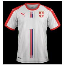 Serbie 2018 maillot exterieur coupe du monde 2018